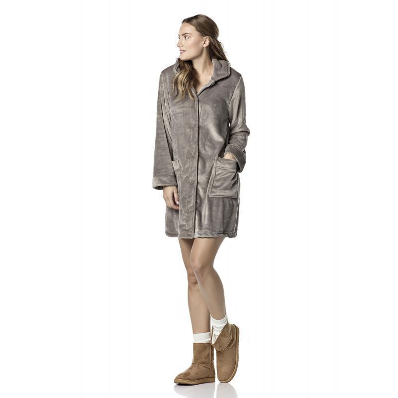 62cc1cc236b0 Γυναικεία   Ρούχα   Πυτζάμες   Ρόμπες   VAMP ΦΛΙΣ ΡΟΜΠΑ ΜΕ ΚΟΥΜΠΑΚΙΑ ...